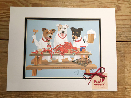 Crabs and Jack Russells Art Prints