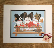 Crabs and Papillons Dog Print