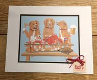 Nova Scotia Duck Tollers and Crabs Print