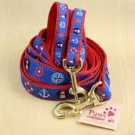 Coastal Nautical Dog Leashes with Classic Good Looks