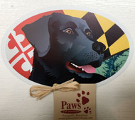 Black Lab Maryland Flag Magnets
