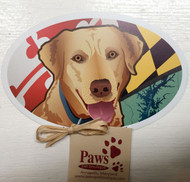 Yellow Lab Maryland Flag Magnets