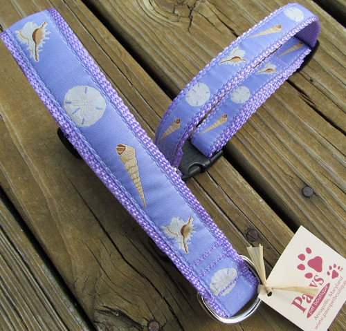 Purple Seashell Dog Collars