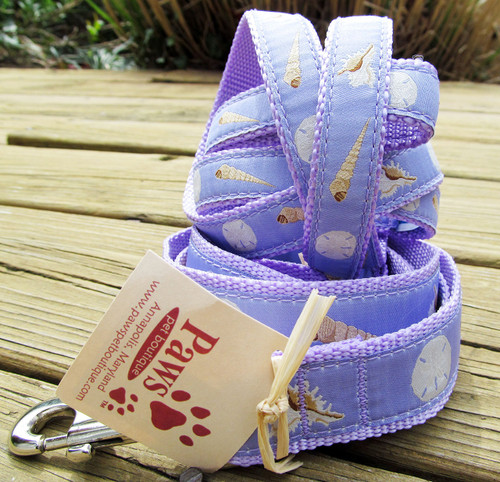 Soft Purple Shell Dog Leash made in USA
