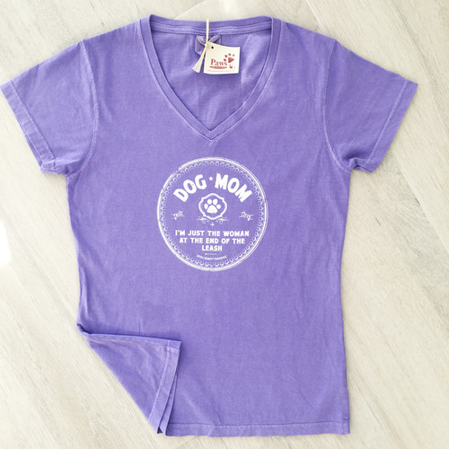 Cozy Dog Mom Shirt with V-neck
