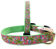 Tropical Palm Designer Dog Collar