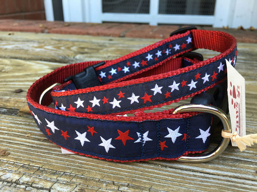 Red, White and Blue Dog Collars