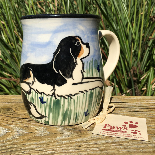 Hand-painted Tri-colored Cavalier King Charles Mug
