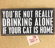 Funny Cocktail Cat Sign