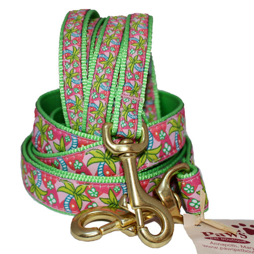 Tropical Palm Dog Leashes