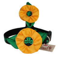 Yellow Flower Dog Collar