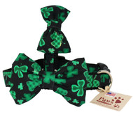 Shamrock Dog Bow Tie Dog Collar