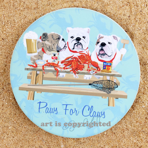 Crabs and Bulldogs Coaster