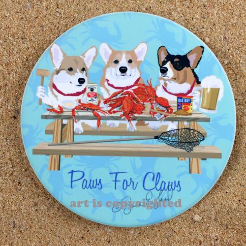 A Trio of Corgis Coaster