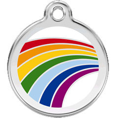 Rainbow Pet ID Tag