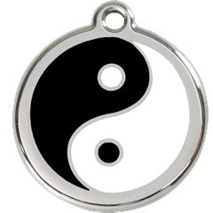 Stainless Steel Ying Yang Pet Collar Tag