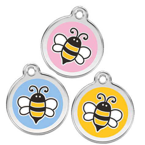 Stainless Steel Pet Tag, 3 Bumble Bee Colors