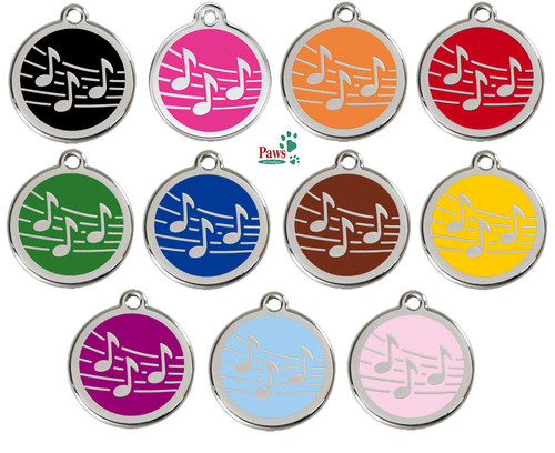 Music Note ID Tags in Assorted Colors