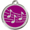 Stainless Steel and Purple Enamel Pet ID Tag