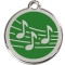 Music Notes Pet ID Tag, Engrave to Personalize
