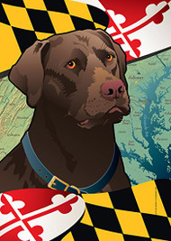 Chocolate Lab Maryland Flag