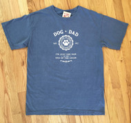 Washed Blue Dog Dad Shirt