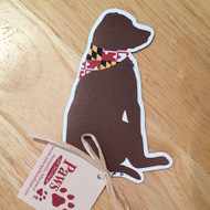 Maryland Flag Chocolate Lab Magnet