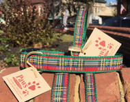 Red Plaid Dog Collars
