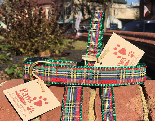 Red Plaid Dog Collars