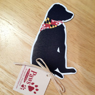 Black Lab Maryland Flag Magnet