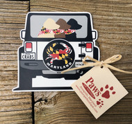 Maryland Flag Labs in Jeep Magnet