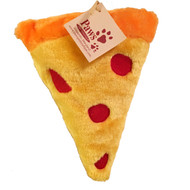 Pizza Dog Toy with Squeaker