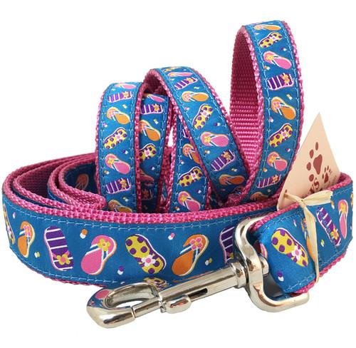Blue Flip Flop Dog Leash