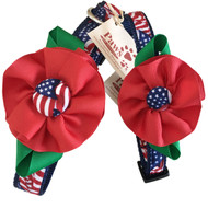 American Flag Collars with Flower