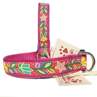 Bold Pink Flowers Dog Collars