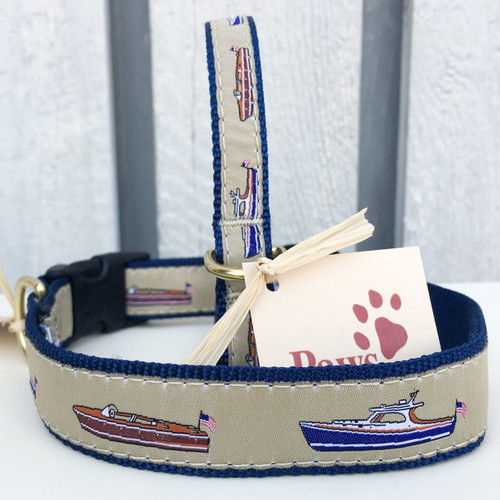 Classic Power Boat Dog Collars