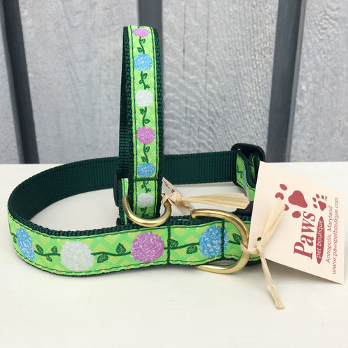 Hydrangea Dog Collars made in USA