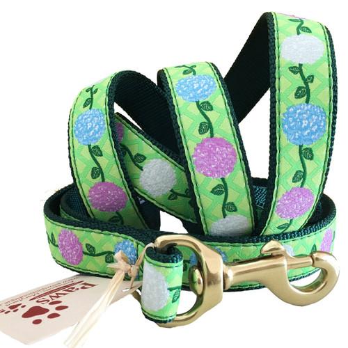 Fresh Green Hydrangea Dog Leash