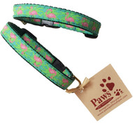 Pink Flamingo Cat Collars