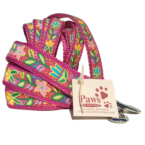 Bold Pink Flower Leash