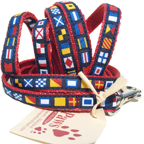Nautical Flag Leash for Small Dog