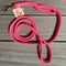 Pink Rope Leash with 2nd Traffic Handle
