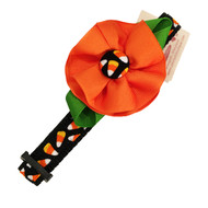 Flower Candy Corn Halloween Collar