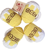 Squeaky Beer Dog Toys
