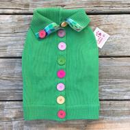Cute button-back dog sweater
