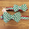 Holiday Striped Dog Bow Tie Collars