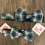 Black Watch Plaid Dog Bow Tie Collars