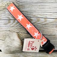 Orange Star Hemp Dog Collar