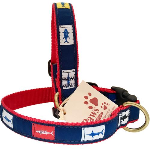 Fish Flags Dog Collars