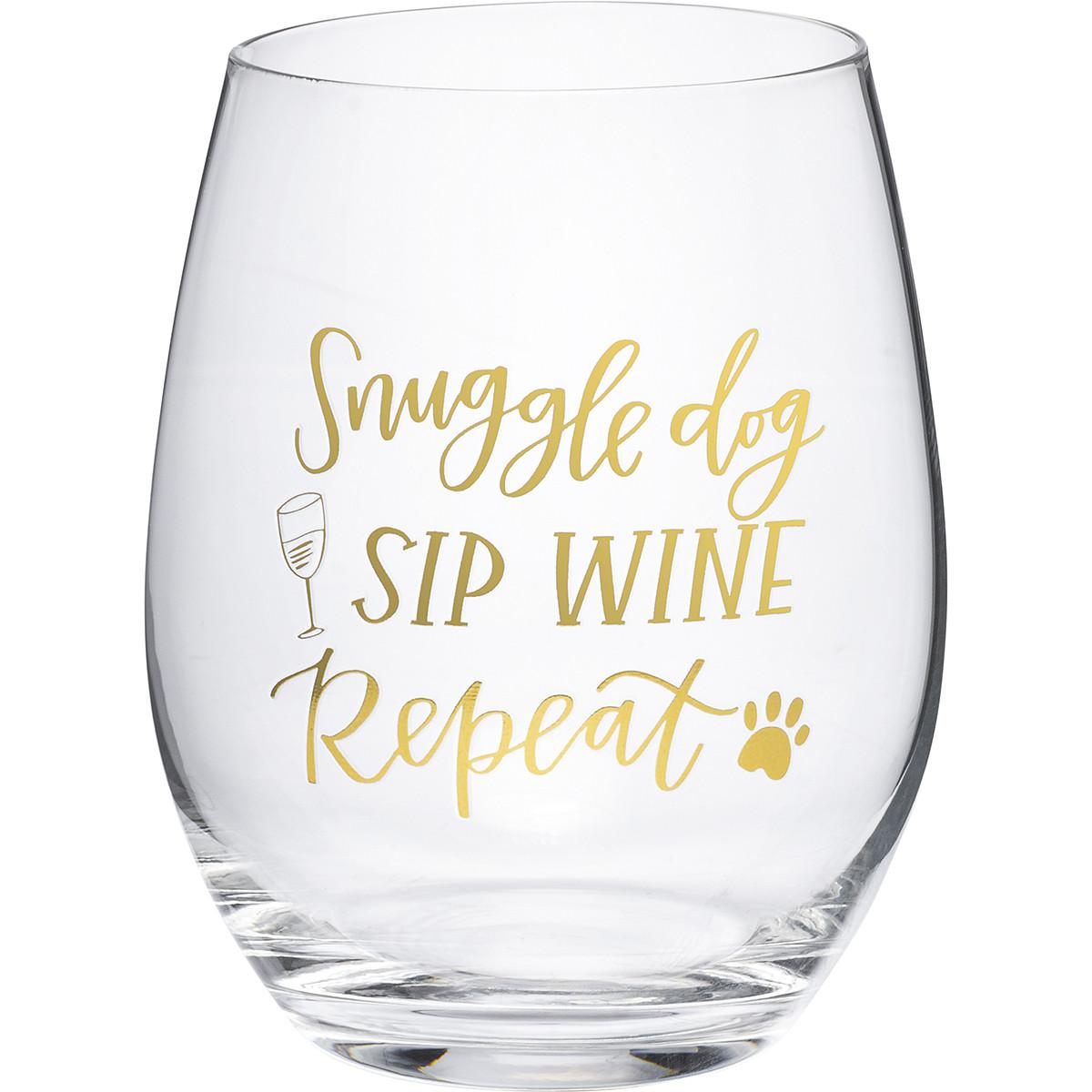 NEW DOBERMAN Wine Glass--Stemless